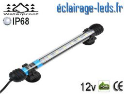 Tube LED 2W Submersible Blanc 18cm Aquarium 12V
