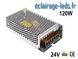 Transformateur LED 120W Pour Intégration 24V DC