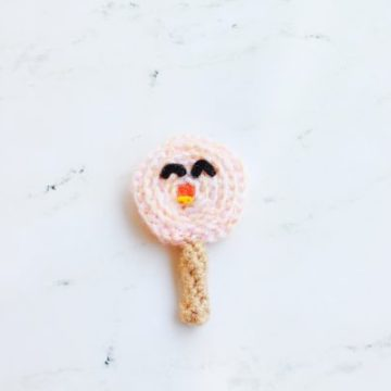 Jolly Lolly Free Crocher Candy Lollipop Pattern 31 Days of Candy Day 1