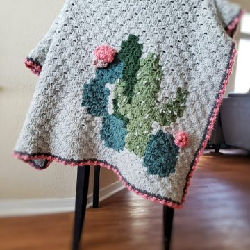 Cactus Cluster Blanket Corner to Corner Crochet Blanket