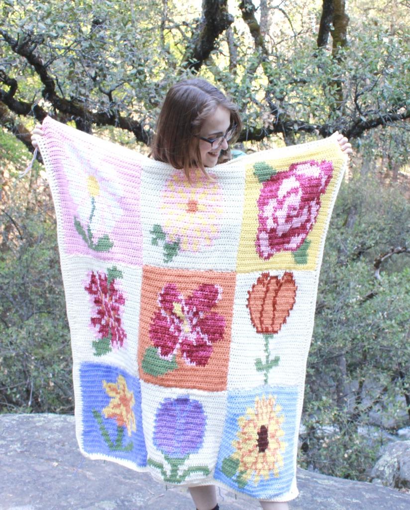 May Flowers Blanket Crochet Along – Week 1: Daisy Block