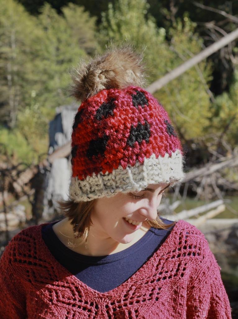 Crochet Plaid Hat: Free Crochet Winter Hat Pattern