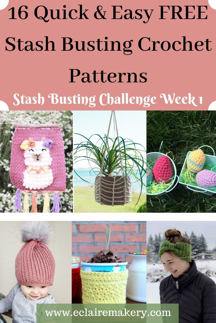 Stashing Busting Challenge: Week 1 – 16 Quick and Easy Stash Busting Crochet Patterns