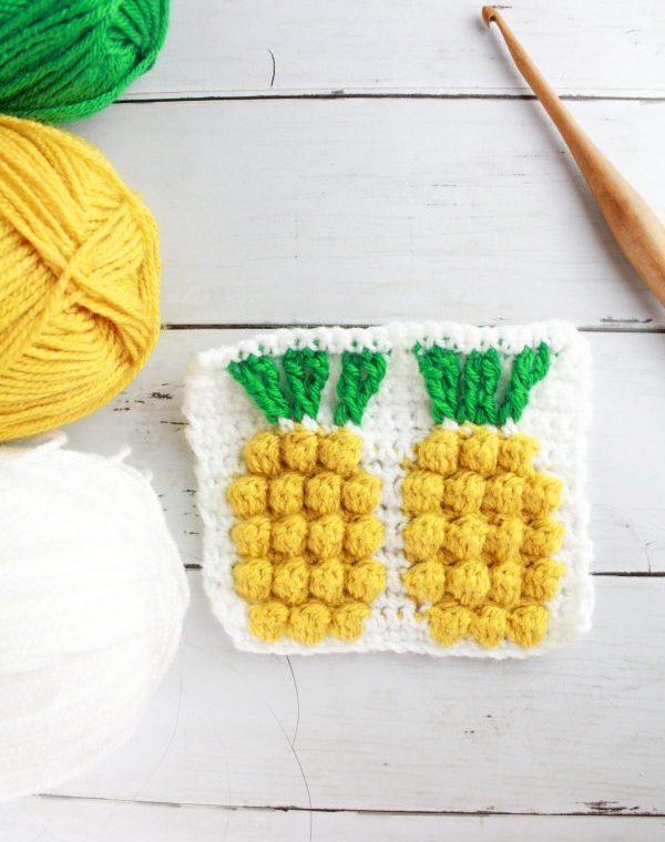 Pineapple Stitch: Textured Tapestry Crochet Stitch Tutorial