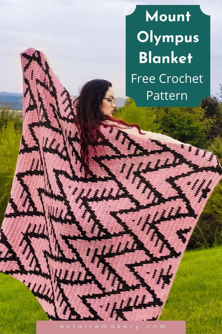 Mount Olympus Blanket: Free Tapestry Crochet Blanket Pattern