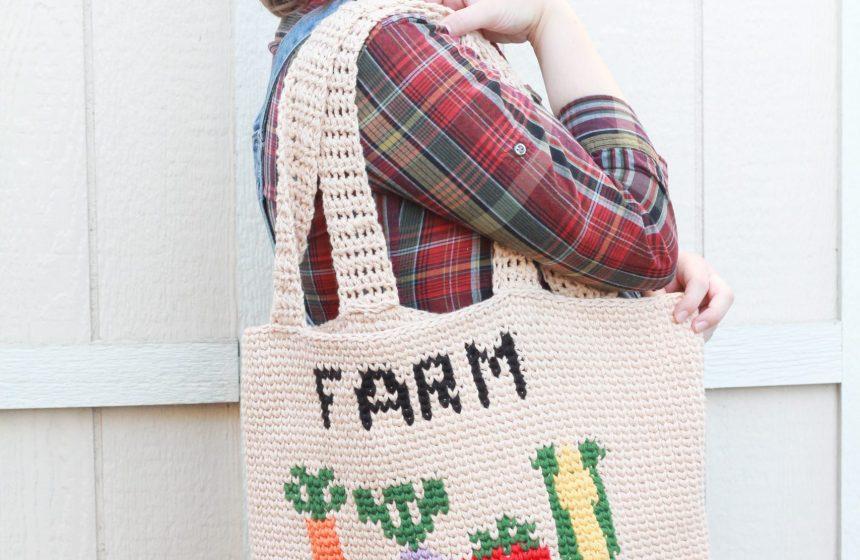 Farm Fresh Market Bag: Free Crochet Bag Pattern