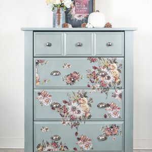 modern floral dresser chest of drawers