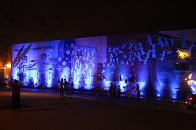 PESIT Mural lit up for Yamini