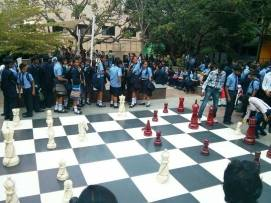 Giant Chess at PESIT