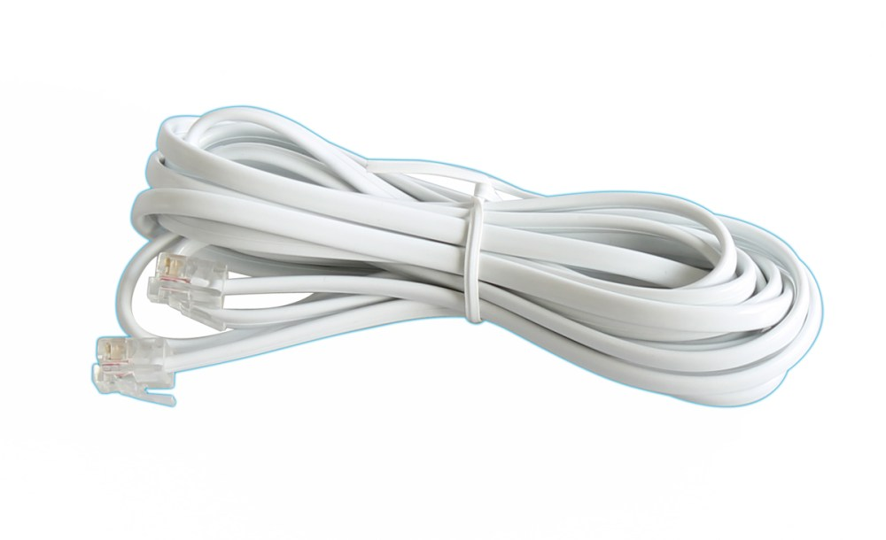 medium resolution of cable telephone cable for telephone rj11 to rj11 6p 4c 3m eclats antivols