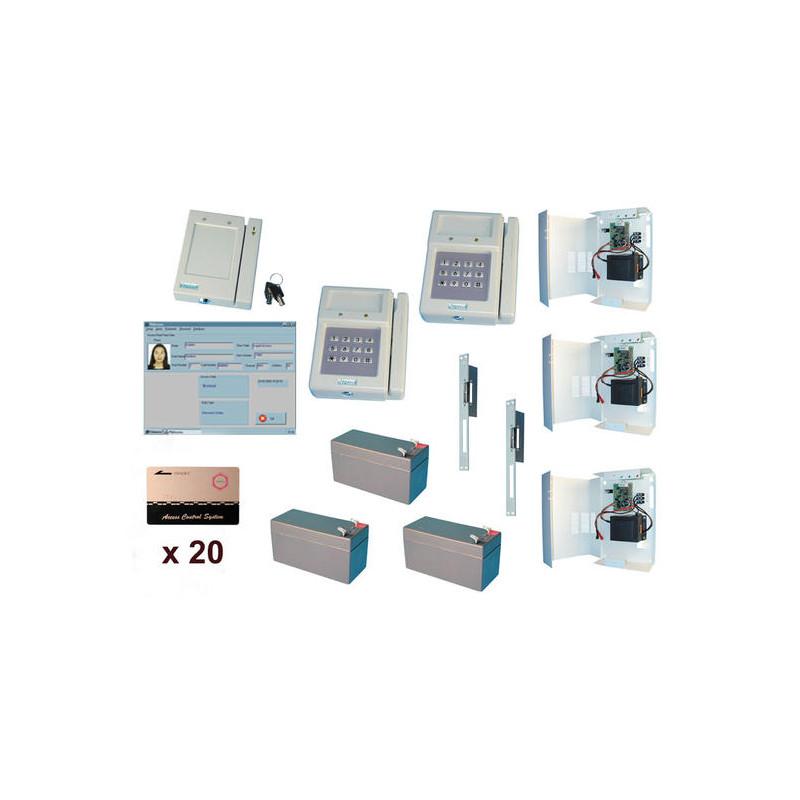 Pack controle 2 acces pointeuse lecteur carte contrôle d'acces packs acces application domotique - Eclats Antivols