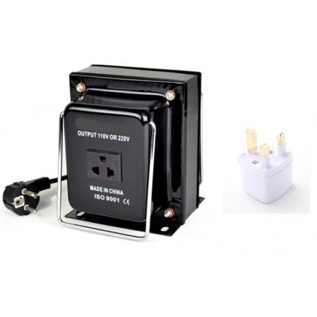 transformateur 110 220 convertisseur 110v 220v 1500 watts reversible avec adaptateur uk eclats antivols