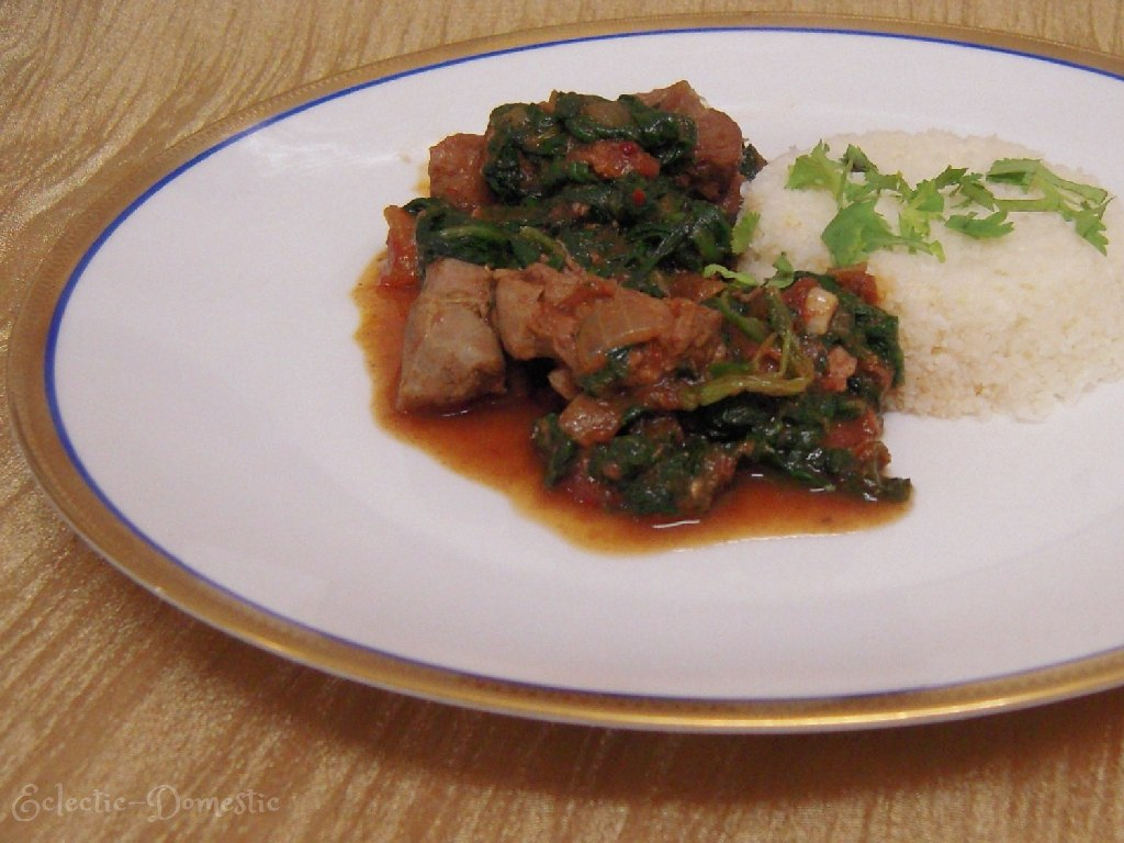 Lamb with spinach (Lamb Saag)