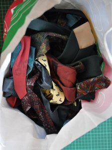 The leftover ties from my lamp upcycle project