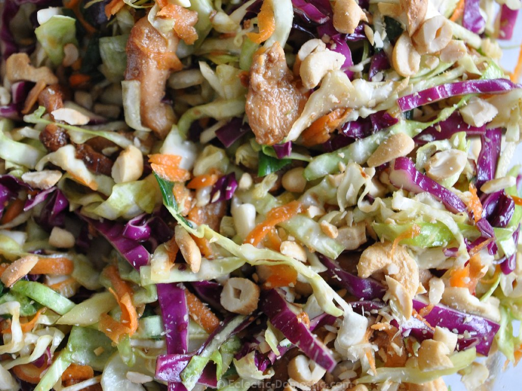Cabbage slaw (coleslaw) two ways