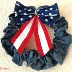 Easy 4th of July denim wreath