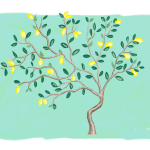Diy Lemon Tree Mural Eclectic Spark