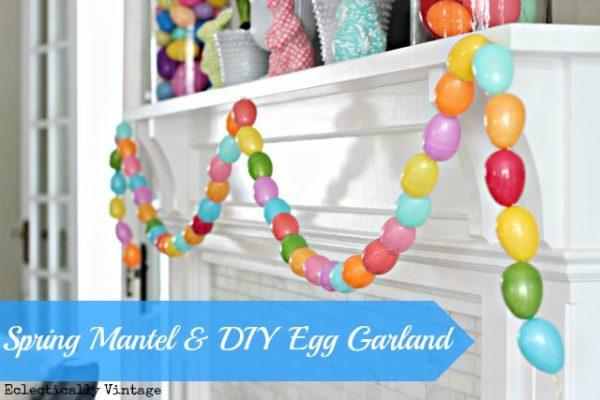 Make an Easter Egg Garland - so fun!  eclecticallyvintage.com