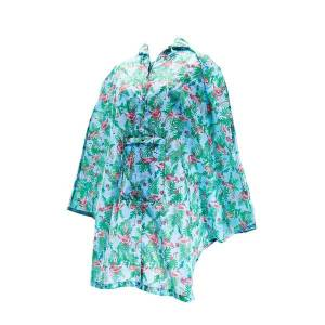 Blue Flamingo poncho