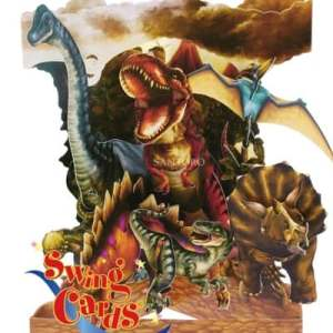 Santoro London Dinosaurs - 3D Pop-Up Swing Card