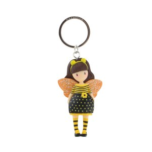Gorjuss Moulded Key Ring Bee-Loved (Just Bee-Cause)