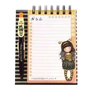 Gorjuss Standing Memo Pad With Pen Bee-Loved (Just Bee-Cause)