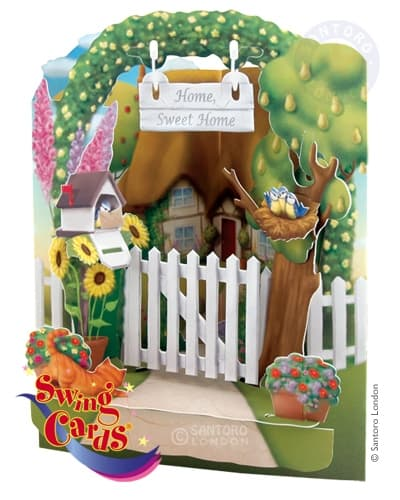 Santoro Home Sweet Home – 3D Pop-Up Swing Card