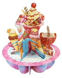 Santoro London - Ice-Cream Sundaes - 3D Pop-up Pirouette Card
