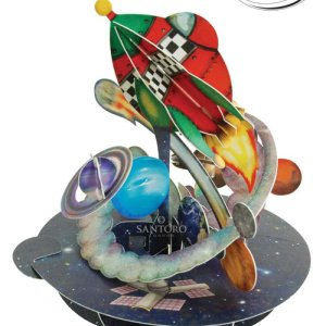 Santoro London - Out In Space - 3D Pop-up Pirouette Card