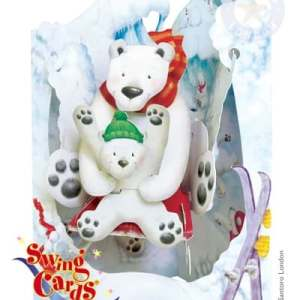 Santoro London Polar Bears - 3D Pop-Up Swing Card