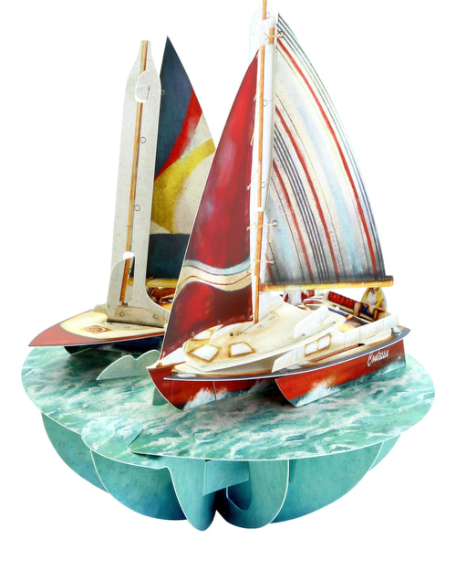 Santoro London – Sailing – 3D Pop-up Pirouette Card