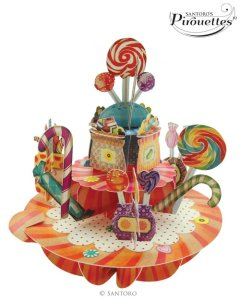 Santoro London - Sweets and Candy - 3D Pop-up Pirouette Card
