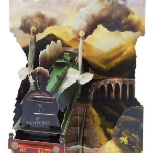 Santoro London -Train - 3D Pop-Up Swing Card