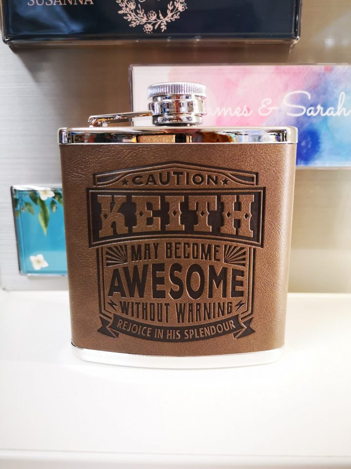 Top Bloke Hip Flask – Keith