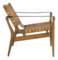 Woven Leather Safari Chair- Tan ~ Eclectic Goods ...