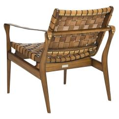 Leather Safari Chair Reupholstering A Woven Tan Eclectic Goods