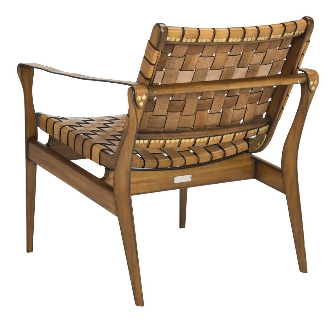 Leather Woven Chair Woven Leather Safari Chair Tan Eclectic Goods