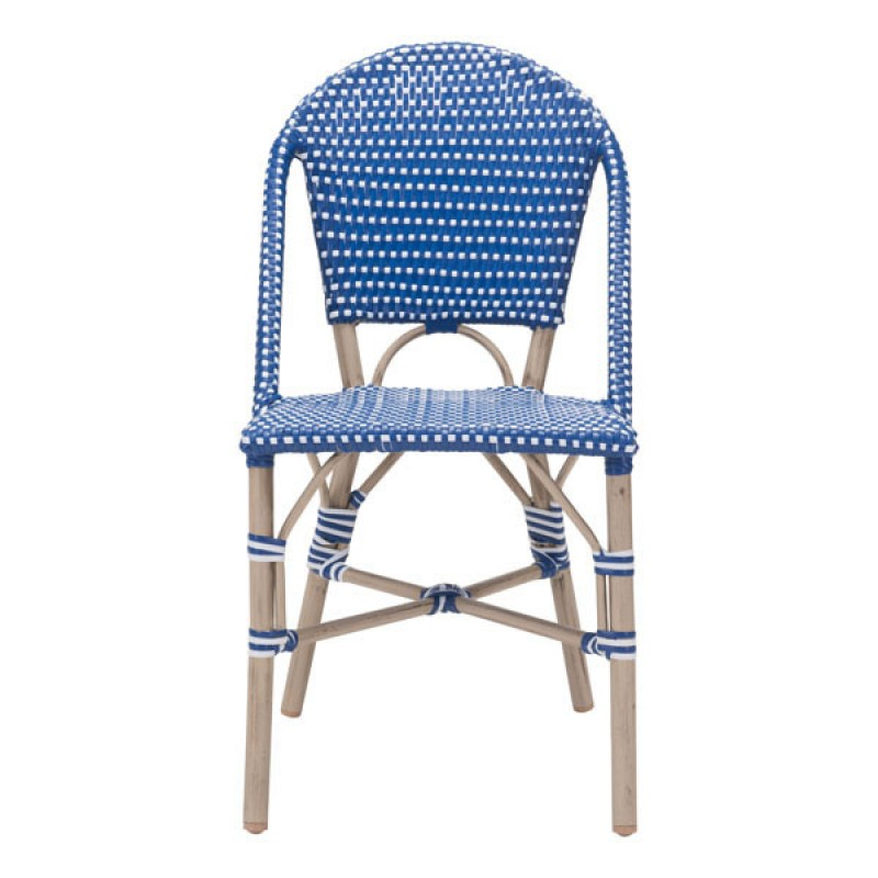blue bistro chairs hanging egg canada navy and white set of 2 eclectic goods eclecticgoods com