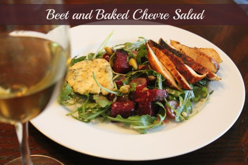 Beet and Baked Chevre Salad