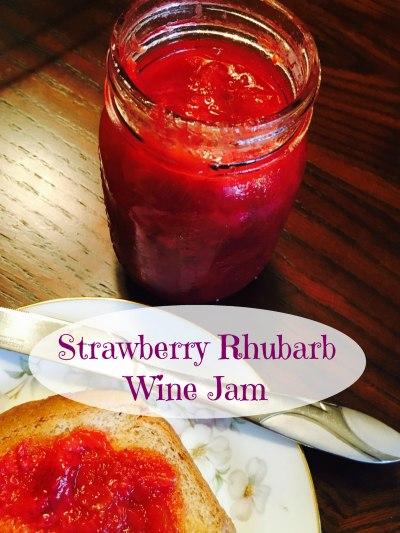 Strawberry Rhubarb Wine Jam