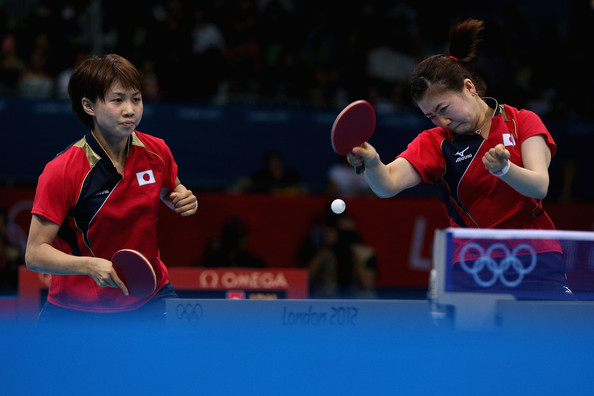 Table tennis players have the most intense game faces.
