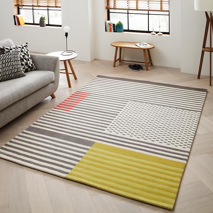 Yellow Black Grey Living Room