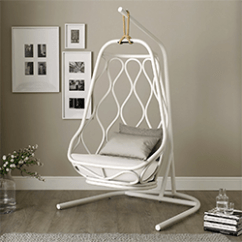 White Swing Chair Uk Plycraft Lounge Friday Five Funky Chairs For Your Living Room Eclectic Home The Company Hanging