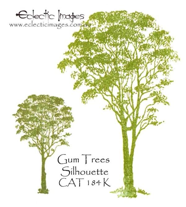 Gum Trees Silhouette