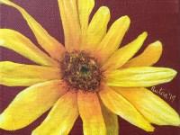 Perennial Sunflower Painting