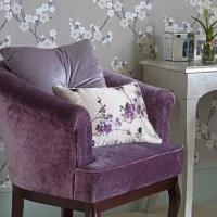bedroom-chair-purple-lavender-silver-leaf-table | ECLECTIC ...
