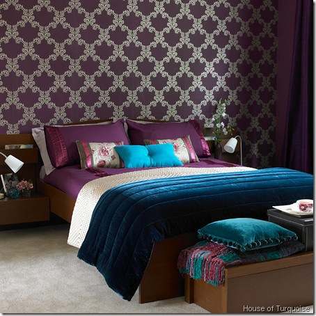 purple and gray bedroom color scheme Color Scheme: Aqua and Purple | ECLECTIC LIVING HOME