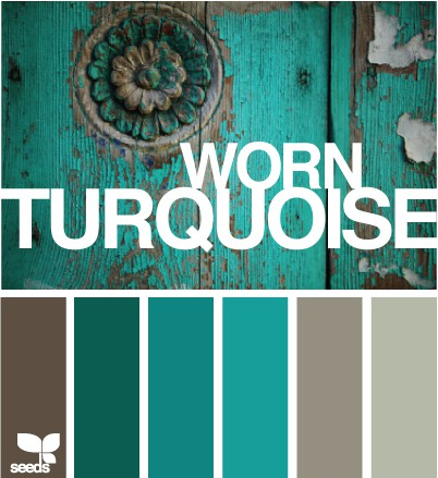 Color SchemeTurquoise and Grey  ECLECTIC LIVING HOME