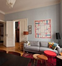 Color Scheme:Red and Grey | ECLECTIC LIVING HOME