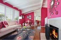 Color Scheme: Hot Pink and Cool Blue | ECLECTIC LIVING HOME
